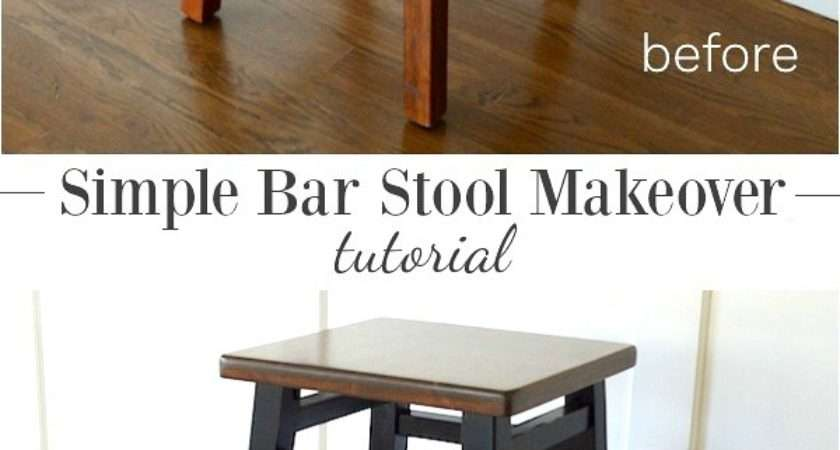 Simple Bar Stool Makeover Tutorial