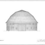 Simple Barn Drawing Round Barns Illinois Thematic Resources