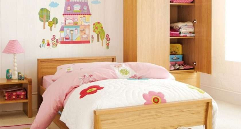 Simple Bedroom Ideas Displaying Cute Wall Sticker Decal