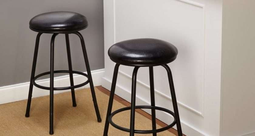 Simple Living Backless Adjustable Swivel Bar Stool Set