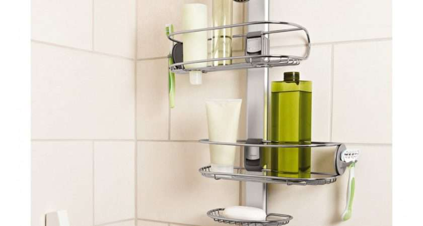 Simplehuman Adjustable Shower Caddy Stainless Steel Anodized