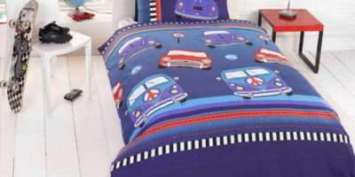 Single Kids Reversible Boys Bedding Duvet Cover Set Blue Colour