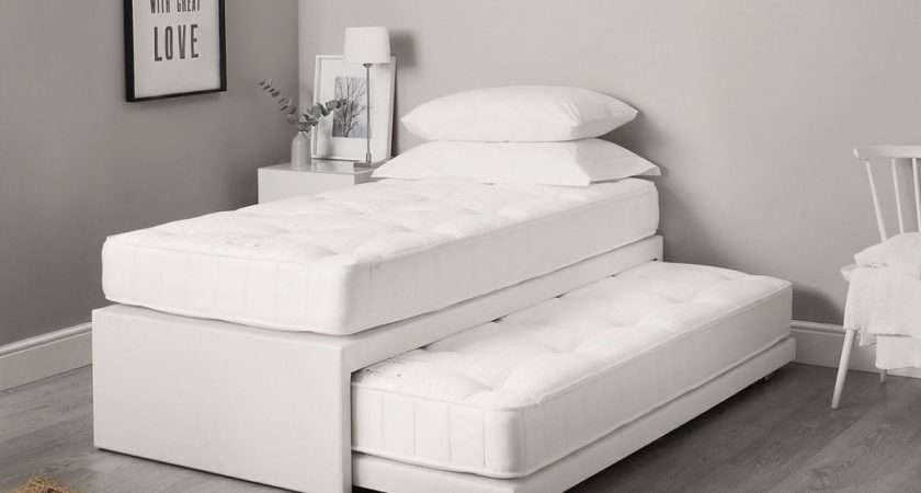 Single Leather Guest Bed Mattress Pullout