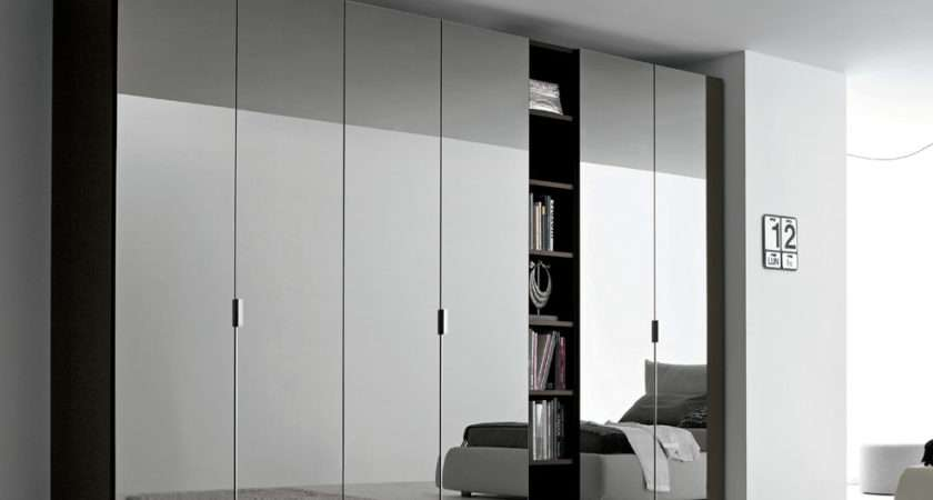 Sky Mirrored Door Wardrobe Open Shelving Fitted Wardrobes