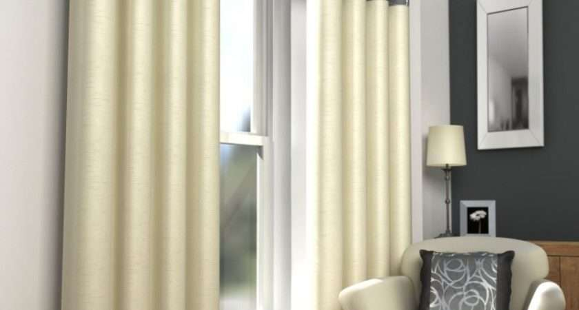 Skye Fully Lined Modern Eyelet Curtains Ring Top Ready