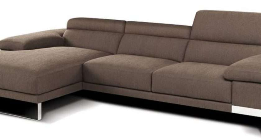 Sleek Leather Fabric Sectional Italhome Also