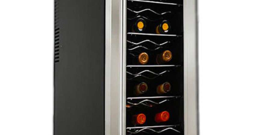 Slim Stainless Steel Bottle Wine Cooler Refrigerator