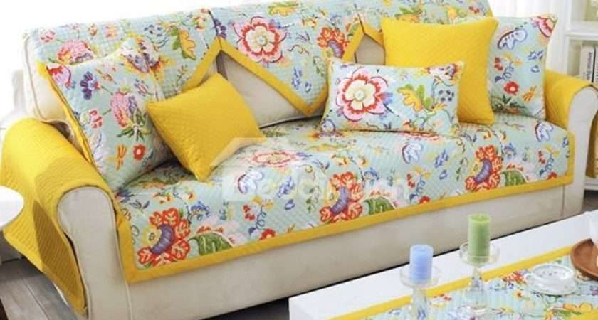 Slip Proof Square Rectangle Polyester Cotton Floral