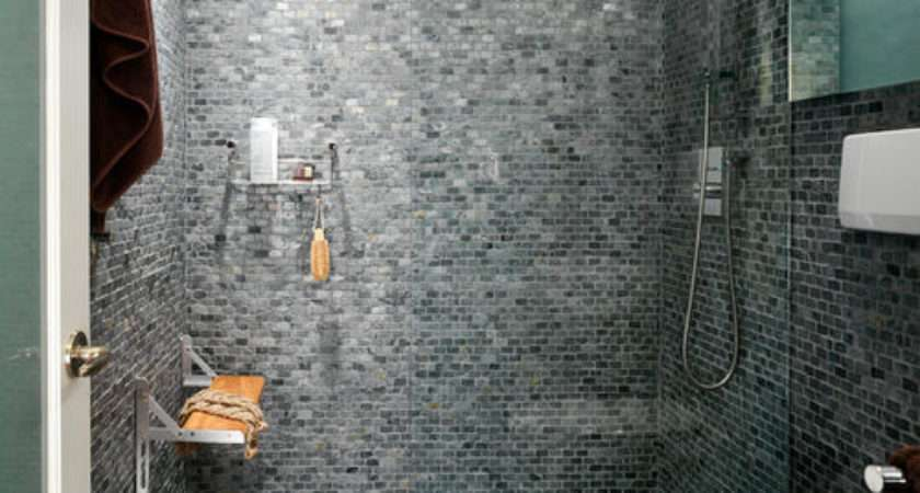 Small Bathroom Design Photos Mosaic Tile Floors