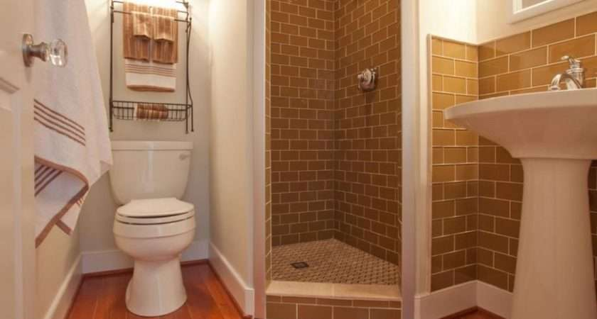 Small Bathroom Shower Stall Showers Bathrooms Home