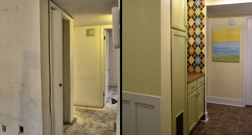 Small Condo Laundry Room Hallway Makeover Before After