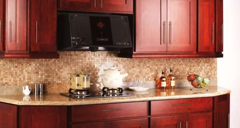 Small Kitchen Cabinet Design Cherry Wood Home