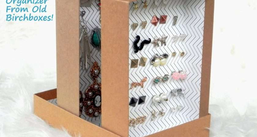 Smart Snazzy Diy Upcycled Birchboxes Into Earring Organizer