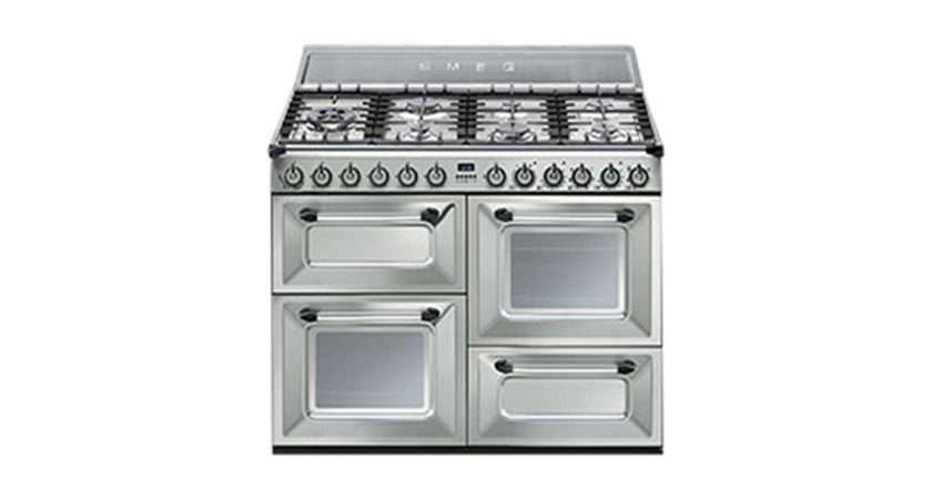 Smeg Duel Fuel Range Cooker Stainless Steel