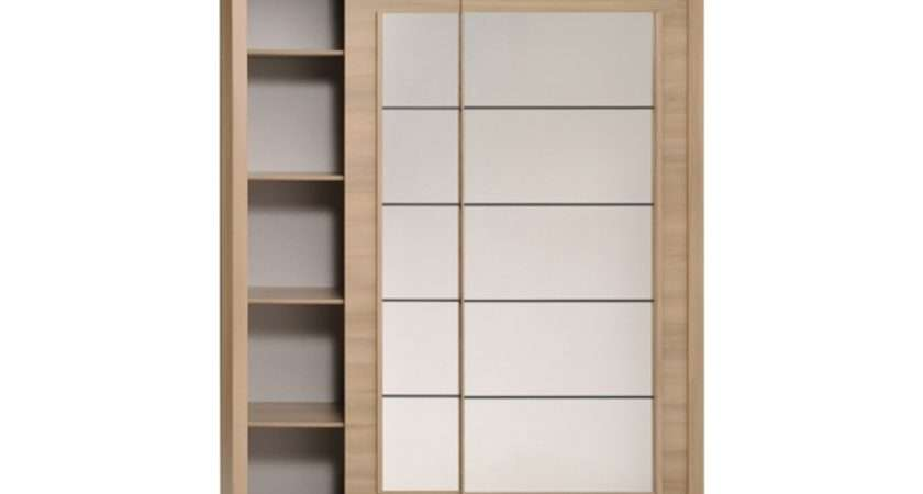 Smoked Acacia Door Mirrored Sliding Wardrobe Wardrobes Fads