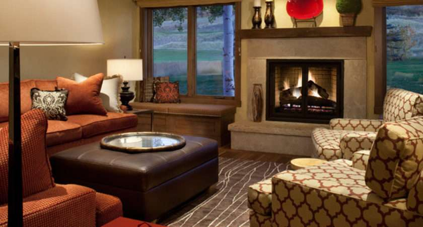 Snowmass Country Club Townhome Modern Living Room