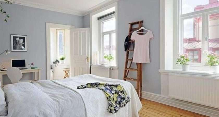 Soft Grey Wall Paint Color Bamboo Floor Nice