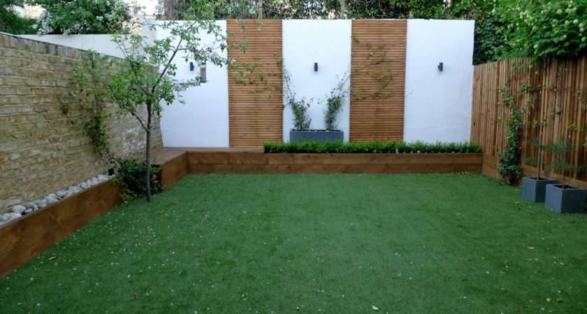 Softwood Decking Rendered Painted Raised Bed Walls Stone