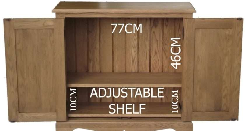 Solid Oak Cupboard Hideaway Storage Shelving Unit Cabinet Multi