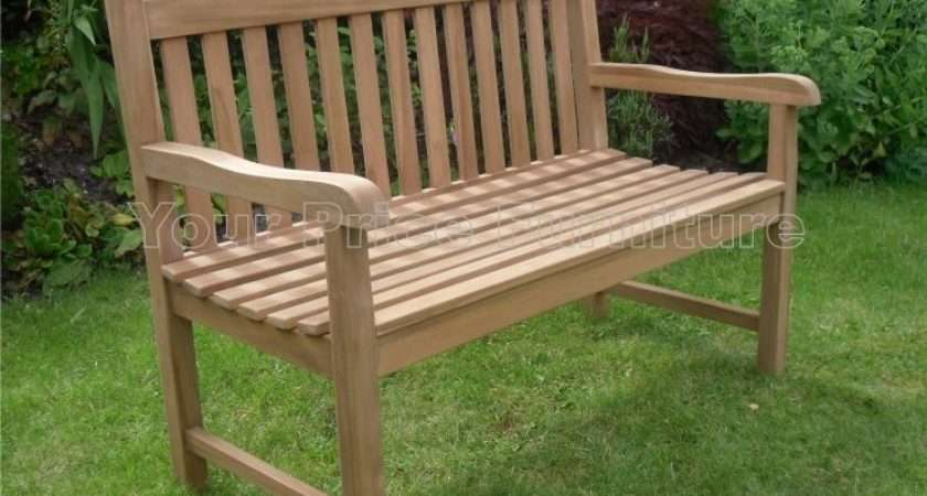 Solid Teak Seat Chunky Park Garden Bench Sale Now Your Price
