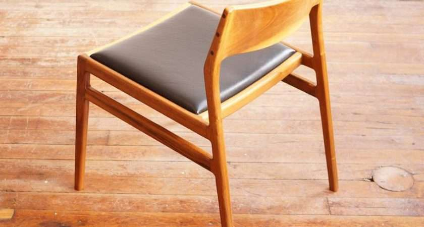 Solid Walnut Dining Chair Leather Seat Jason