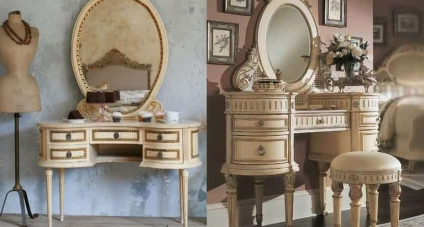 Some Vintage French Style Cream Gold Vanity Tables Yes