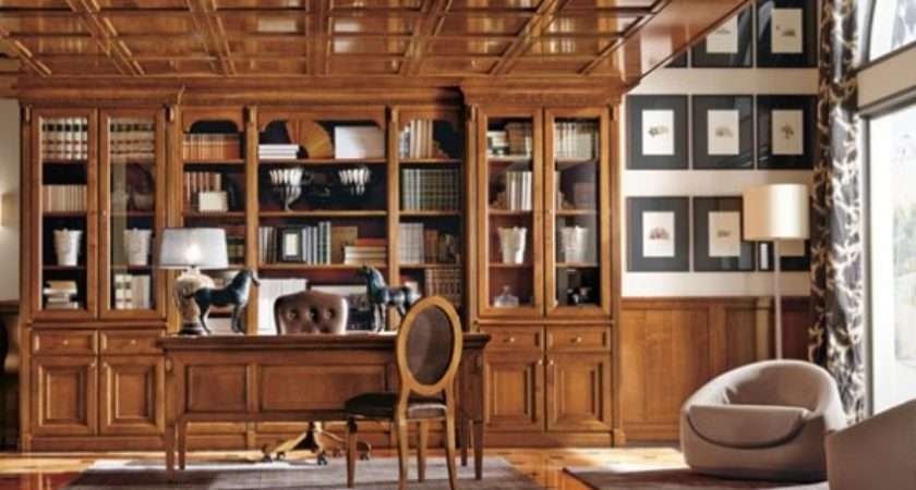 Sophisticated Home Office Design Artistic Wooden
