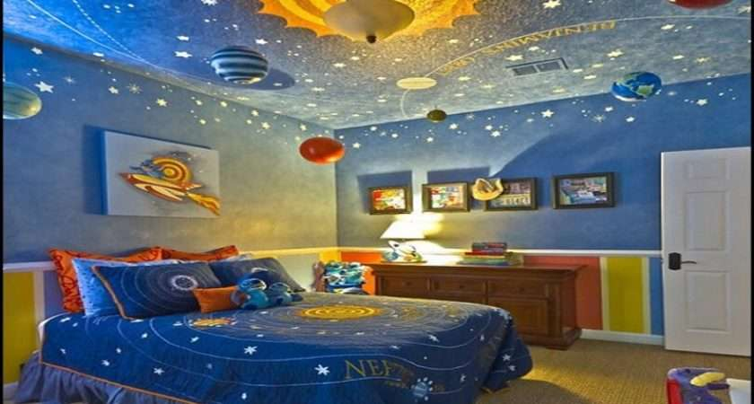 Space Bedroom Decor Outer Themed Party Decorations