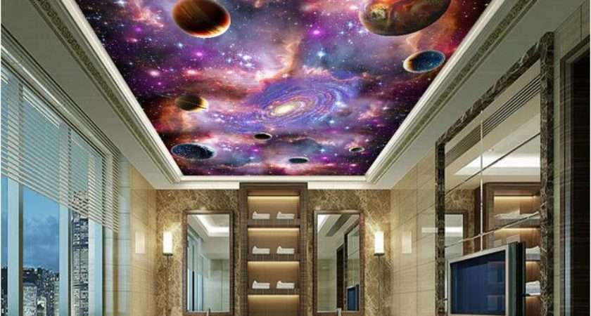 Space Galaxy Ceiling Mural Large