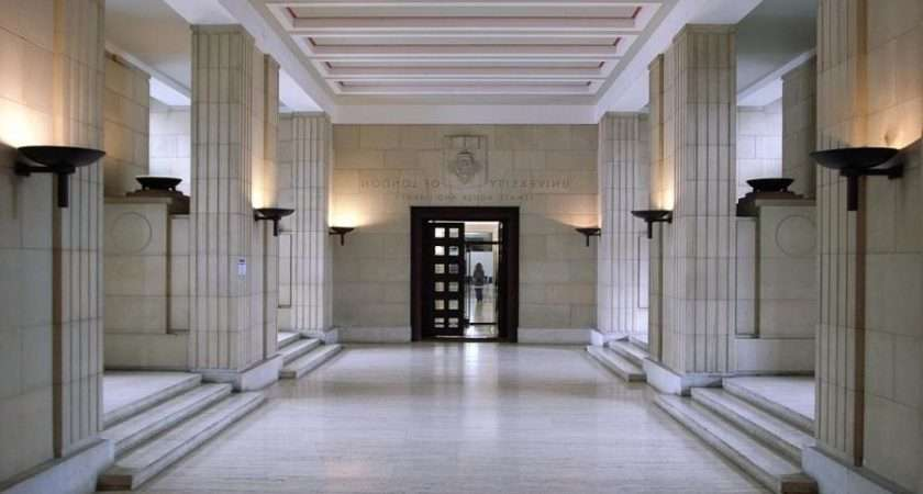 Spacious White Hallway Senate House Lighted Lantern Source