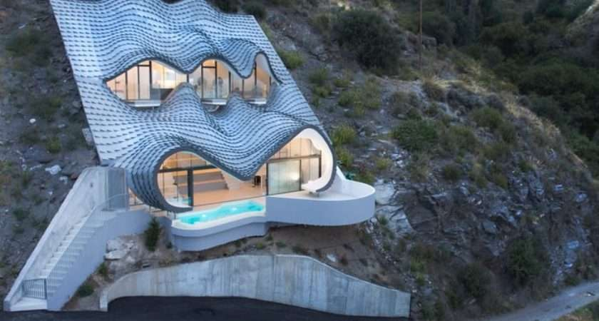 Spanish Cave House Resembles Scaled Dragon Looking Out Sea