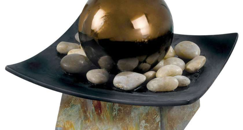 Sphere Table Top Water Fountain Contemporary Indoor Fountains