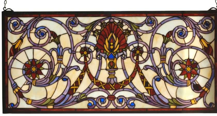 Spiral Victorian Stained Glass Window Copperfoil Finish