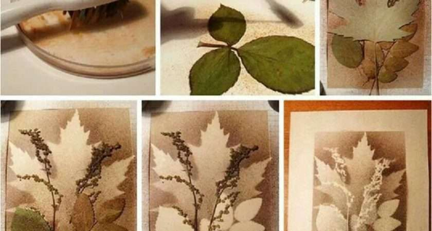 Splatter Art Layered Leaves Tree Projects Adults