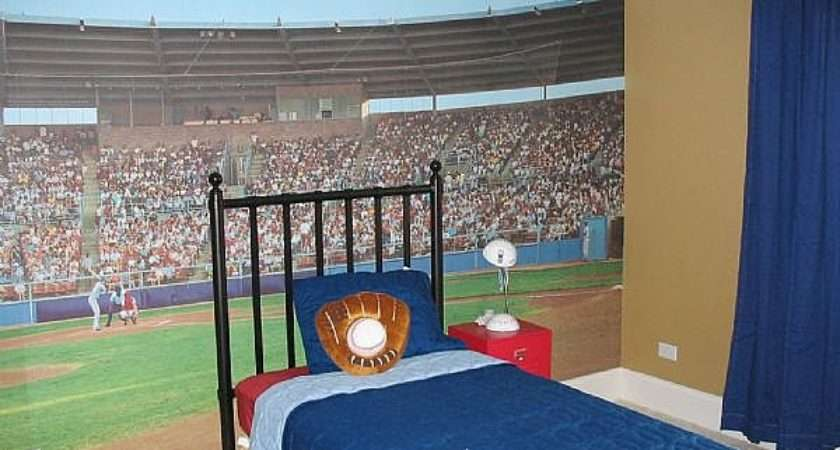 Sporty Bedrooms Teen Boys Baseball Mural