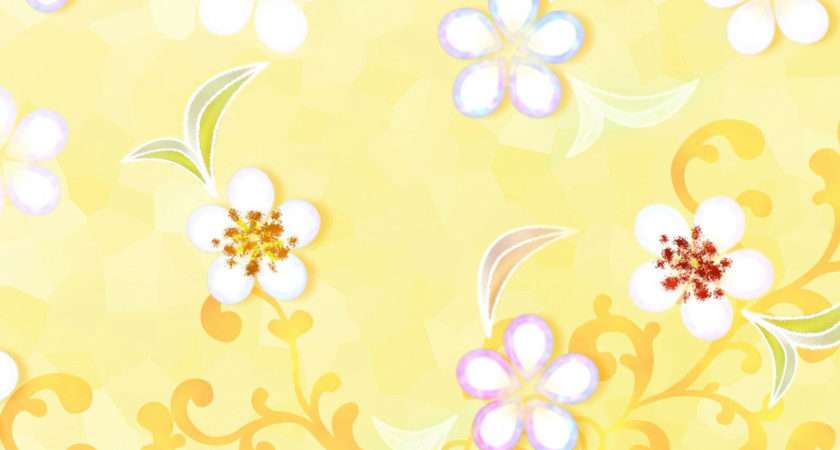 Spring Flower Patterns Yellow Colored Your Floral