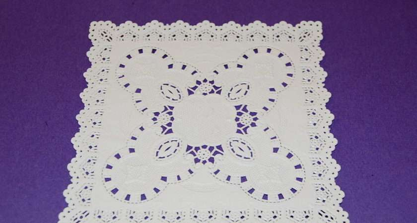 Square Lace Doily Doilies White Paper Ebay