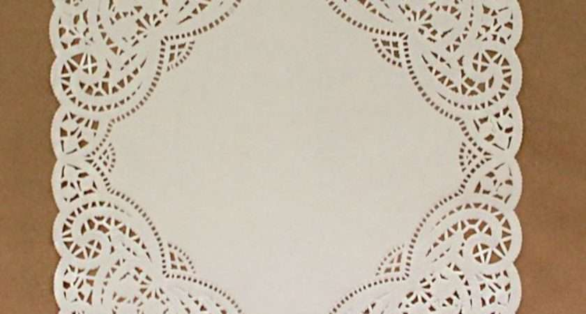 Square Paper Doilies Inch White Envelope Ready