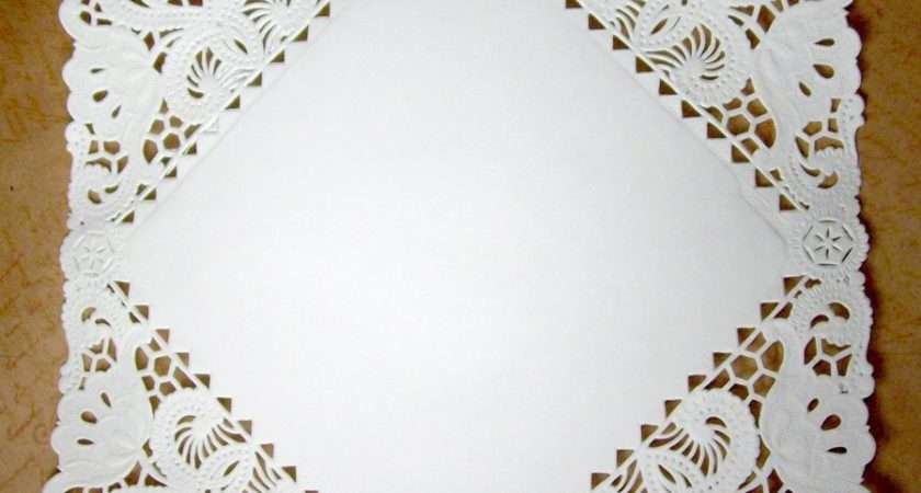Square Paper Doilies Inch White