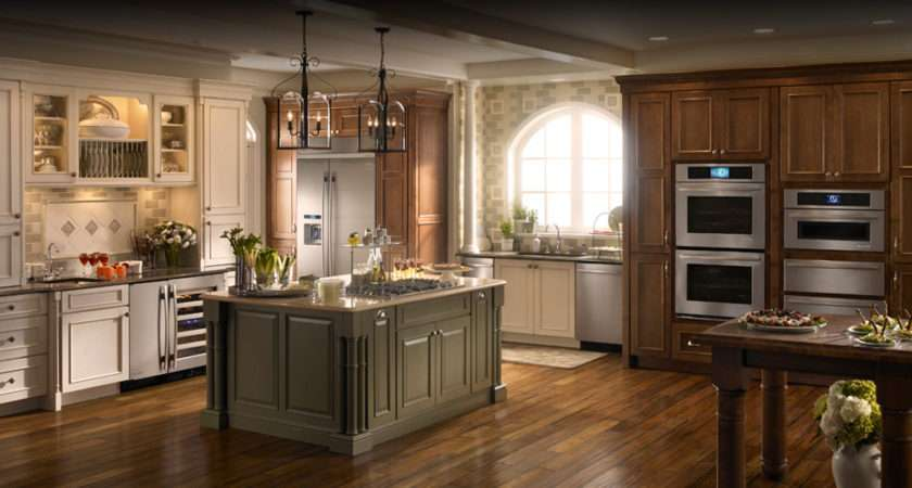 Stainless Steel Blend Perfectly French Country Kitchen