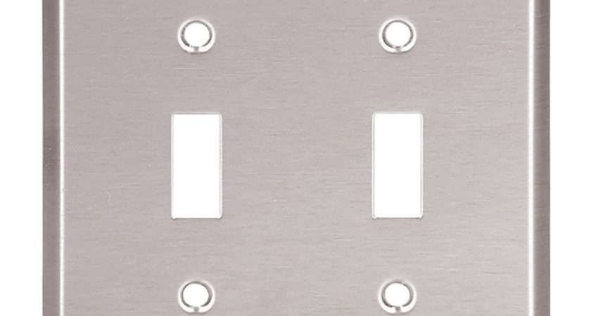Stainless Steel Brushed Satin Double Light Switch Wall