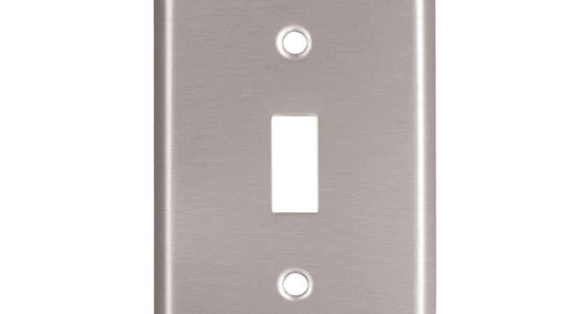 Stainless Steel Brushed Satin Single Light Switch Toggle