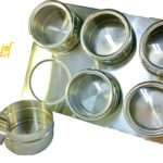 Stainless Steel Magnetic Spice Jars Rack Kitchen Ebay