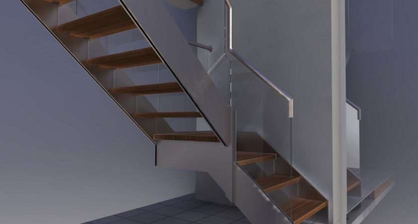 Stainless Steel Stringer Feature Staircase London