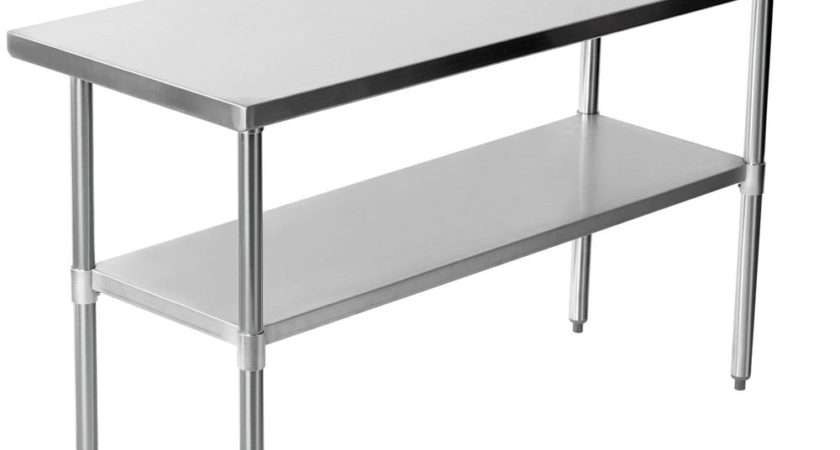Stainless Steel Work Bench Table Kitchen Top Ebay