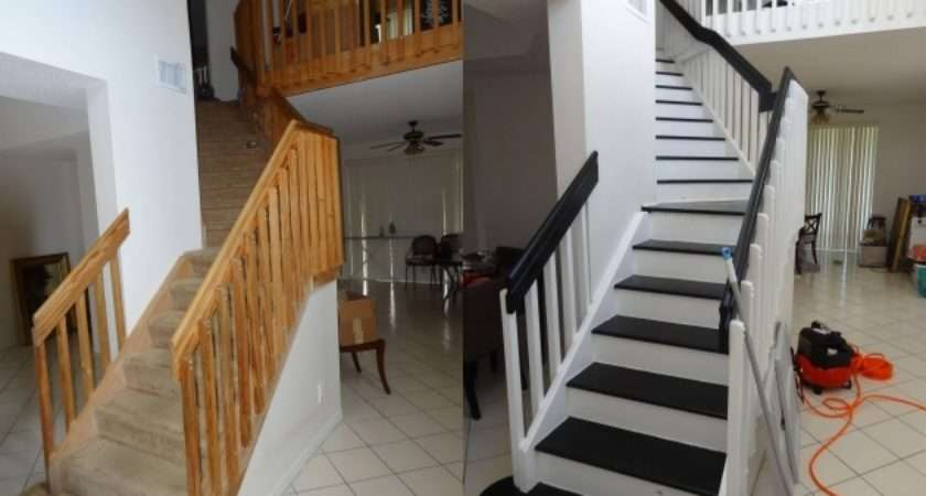Staircase Railing Remodel Stairs Design Ideas