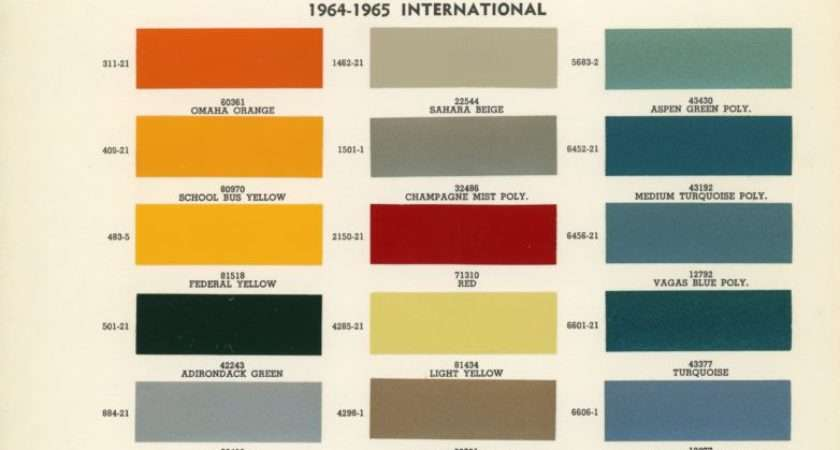 Standard Colors Color Charts Old
