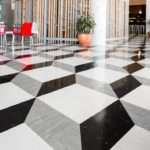 Standard Polyflor Vinyl Tiles Used Create Floor African Design