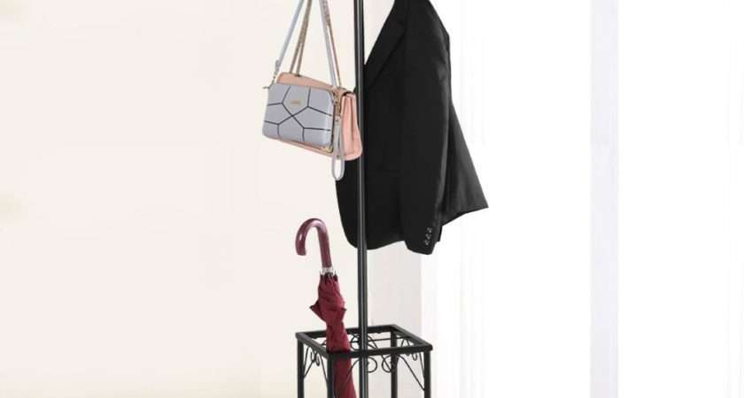 Standing Coat Hat Rack Umbrella Holder Hook Steady