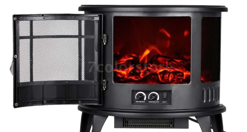 Standing Fire Flame Effect Electric Heater